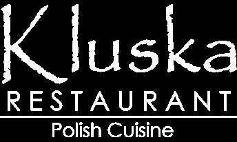 kluska restaurant logo white